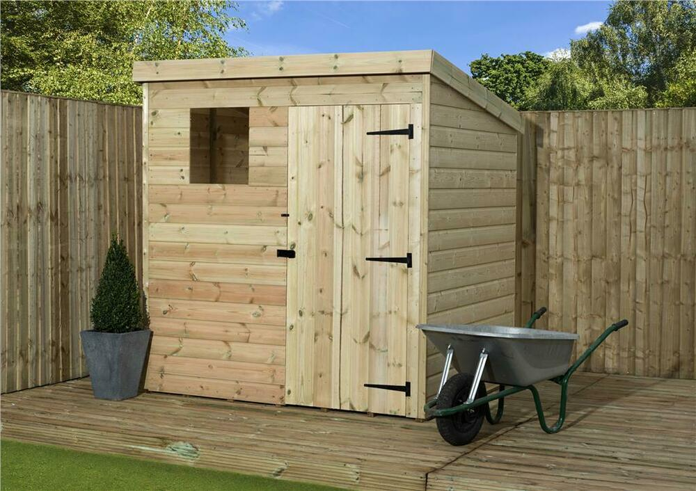 5x4 garden shed shiplap pent roof tanalised window for Garden shed tab