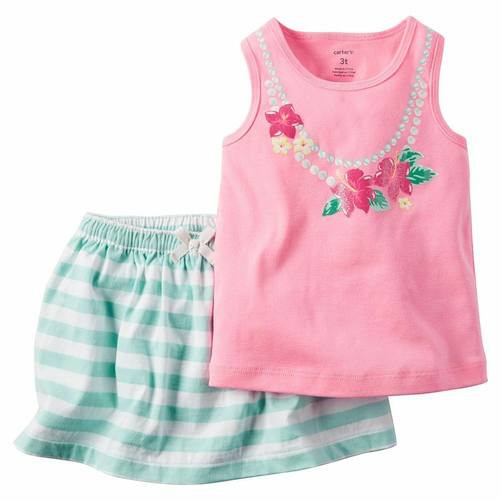 Baby Girl Carters Tank & Skort Skirt Set Clothes Newborn 3