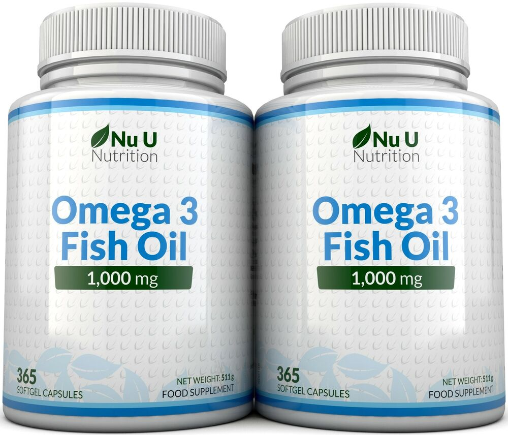Nu u omega 3 fish oil 1000mg 2 bottles omega 3 6 9 dha for Fish omega 3