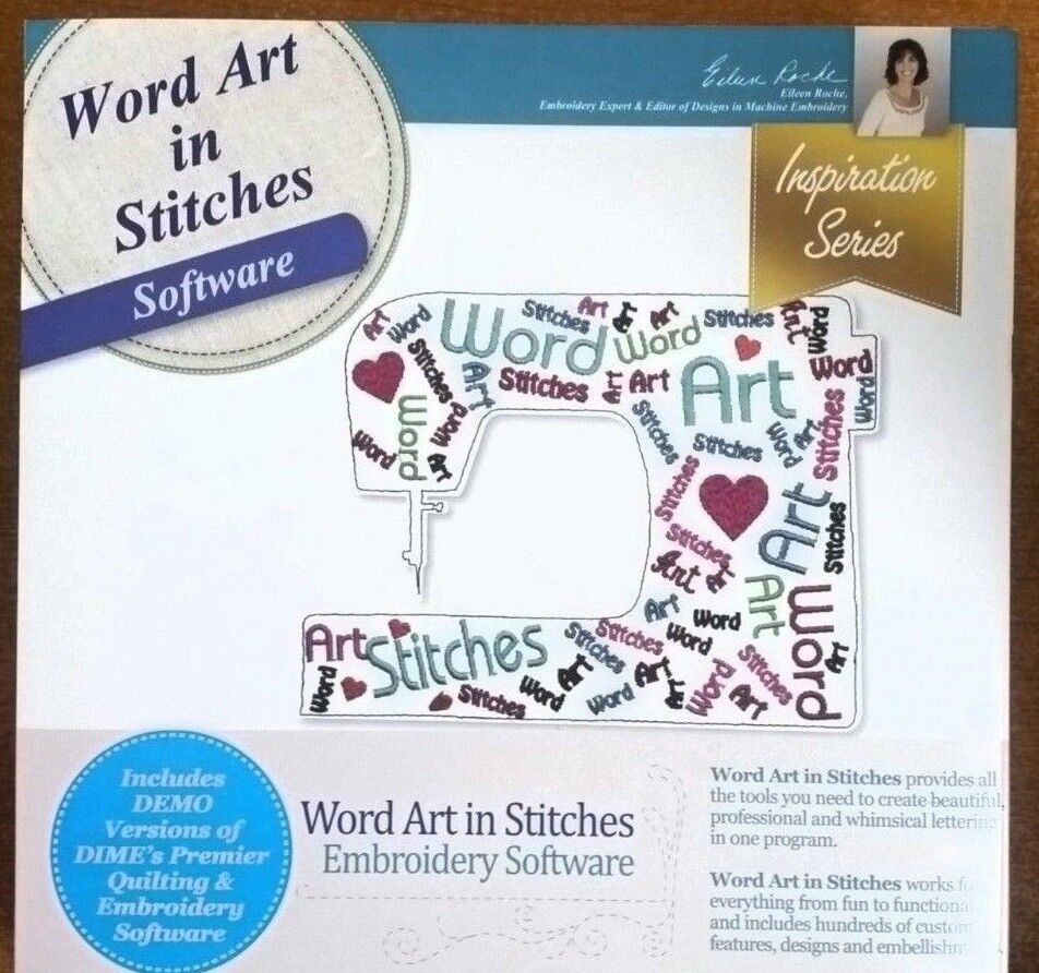 Dime word art in stitches embroidery software ebay