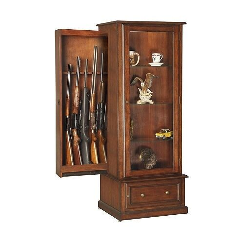 Curio And Gun Cabinet Combination By American Furniture