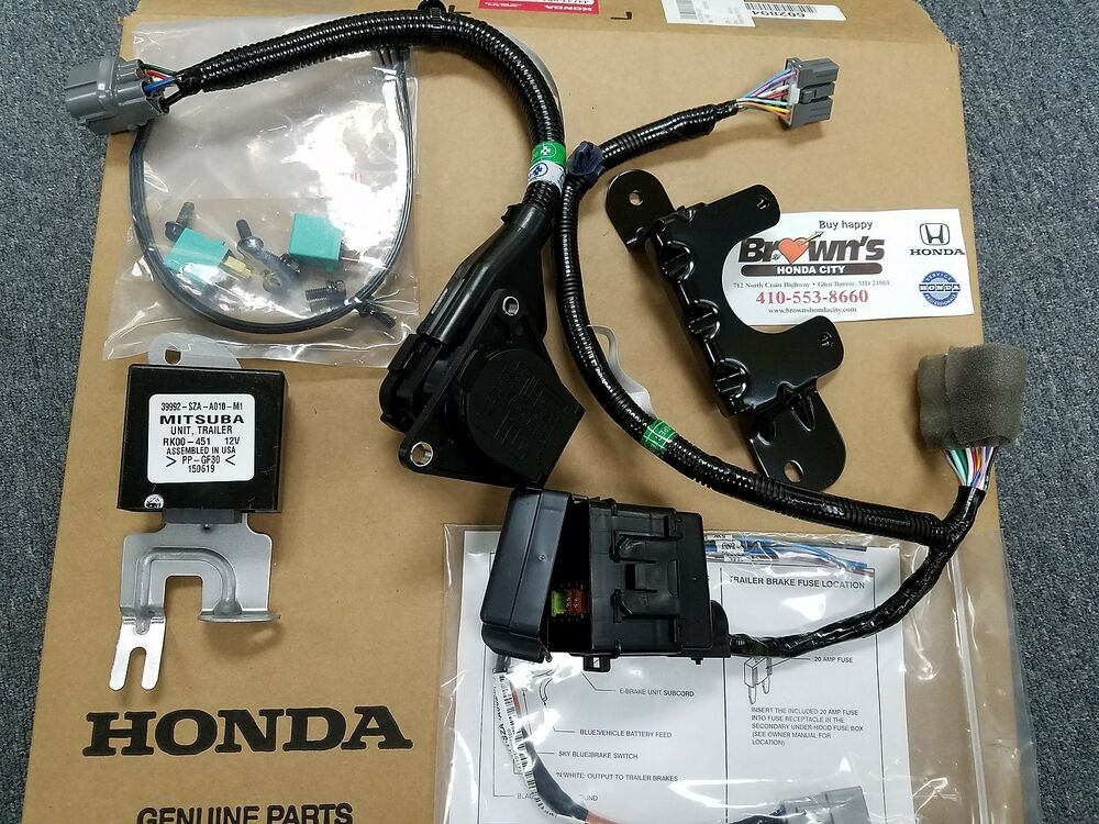 New Genuine Honda Pilot 7 Pin Trailer Harness Kit 2012