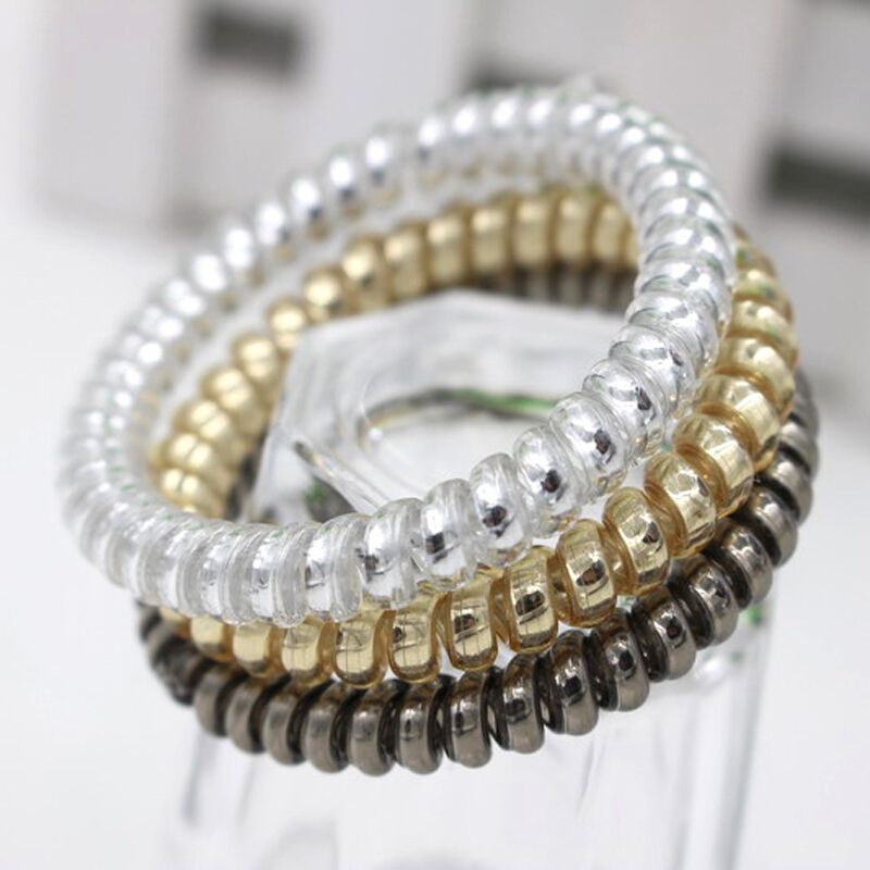 Wire Bands: New Arrival Gold/Silver Elastic Rubber Telephone Wire Hair