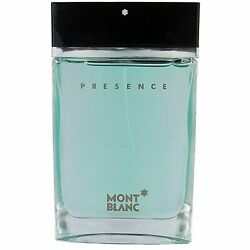 PRESENCE by Mont Blanc 2.5 oz edt Cologne for Men in tester box