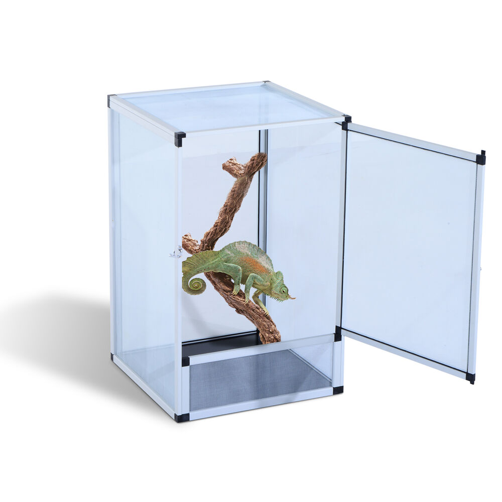 large screen reptile cage aluminum breeding box pet insect lizard snake habitat ebay. Black Bedroom Furniture Sets. Home Design Ideas