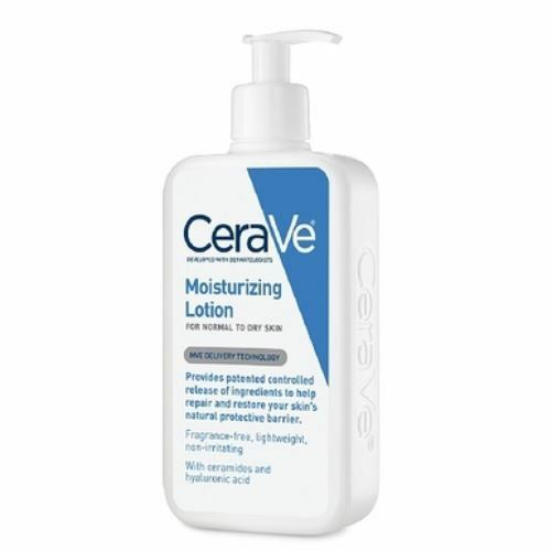 Cerave lotion on face