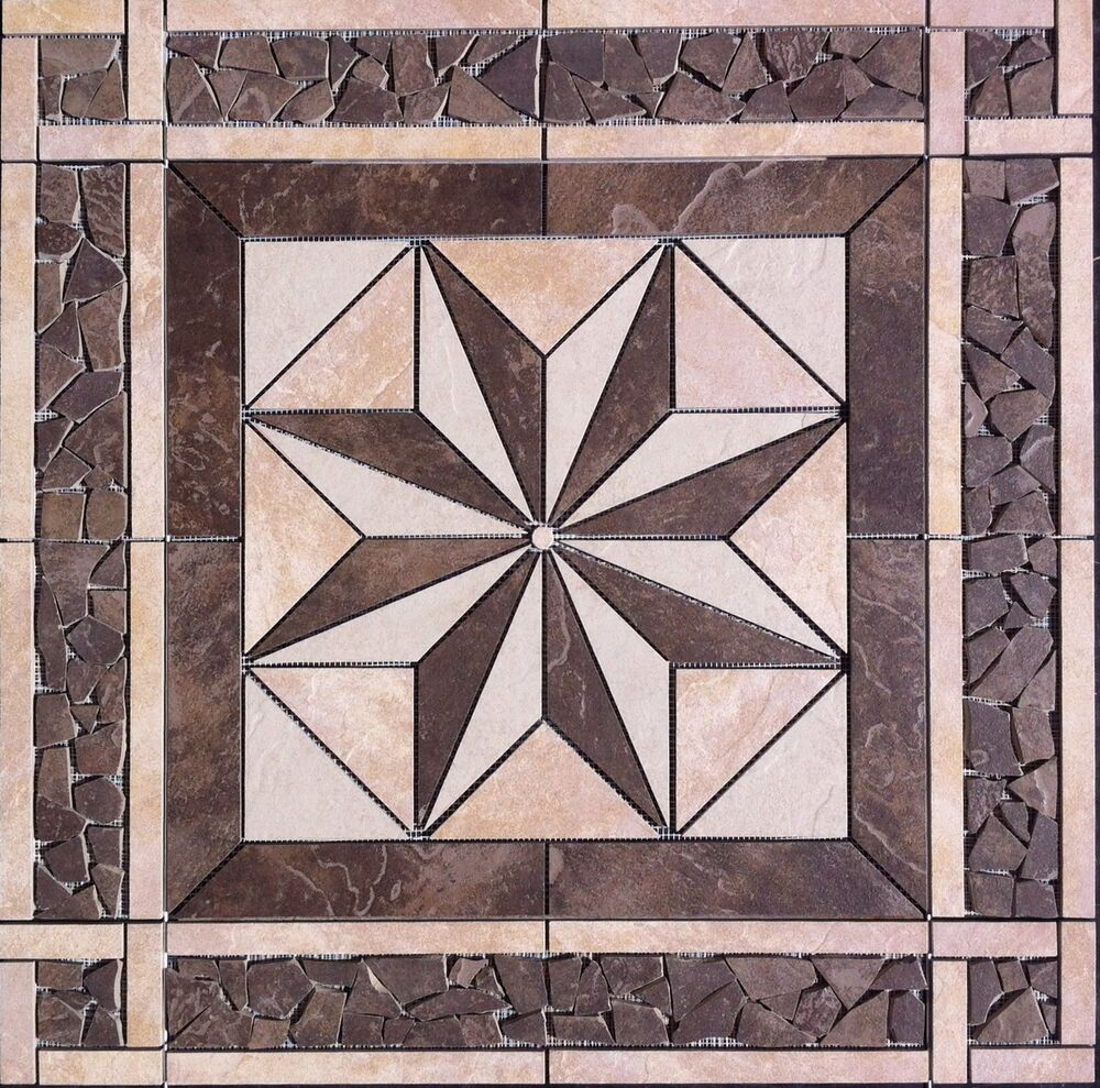 32 tile medallion daltile 39 s continental slate cliff for Lamosa tile