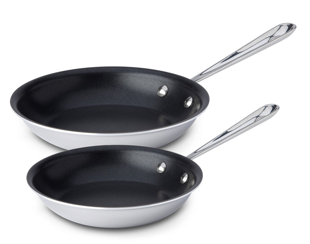 All Clad Stainless Steel 8 Amp 10 Inch 2 Piece Nonstick Fry
