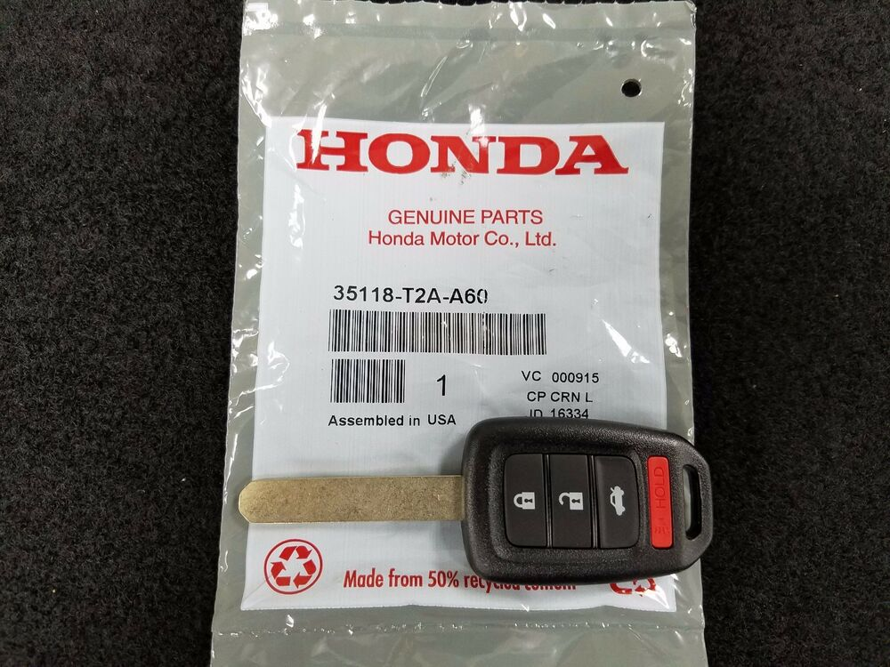new genuine honda 2016 accord lx 2016 civic lx remote key. Black Bedroom Furniture Sets. Home Design Ideas