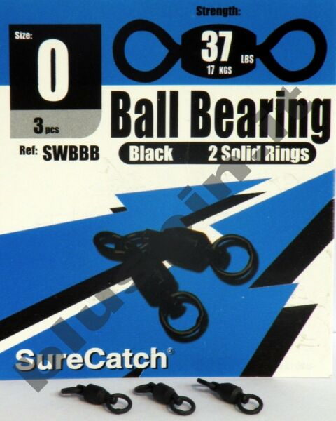 SURE CATCH Hyper Stainless Steel Fishing Solid Ring Ball Bearing Swivel SIZE:0
