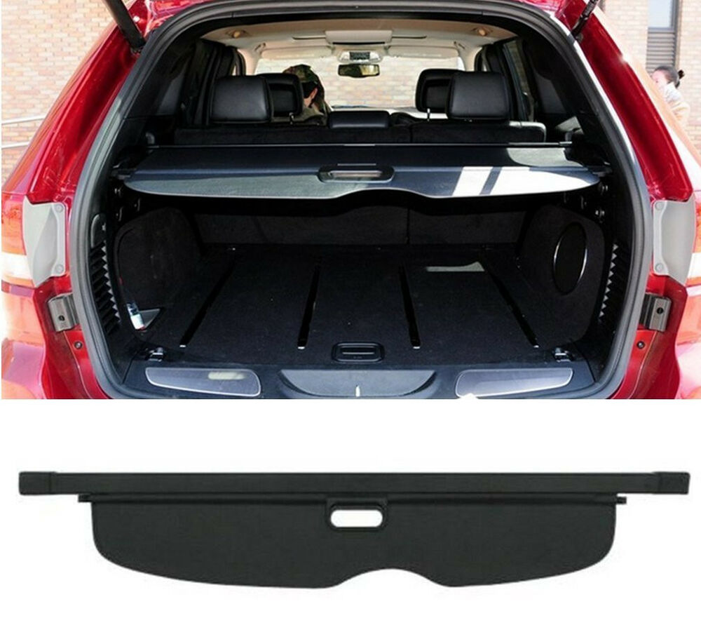 retractable rear trunk cargo shade cover shield for jeep grand cherokee 2016 bl ebay. Black Bedroom Furniture Sets. Home Design Ideas