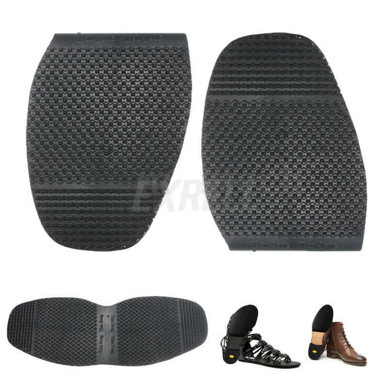 1 pair mens rubber diy stick on half soles shoe repair