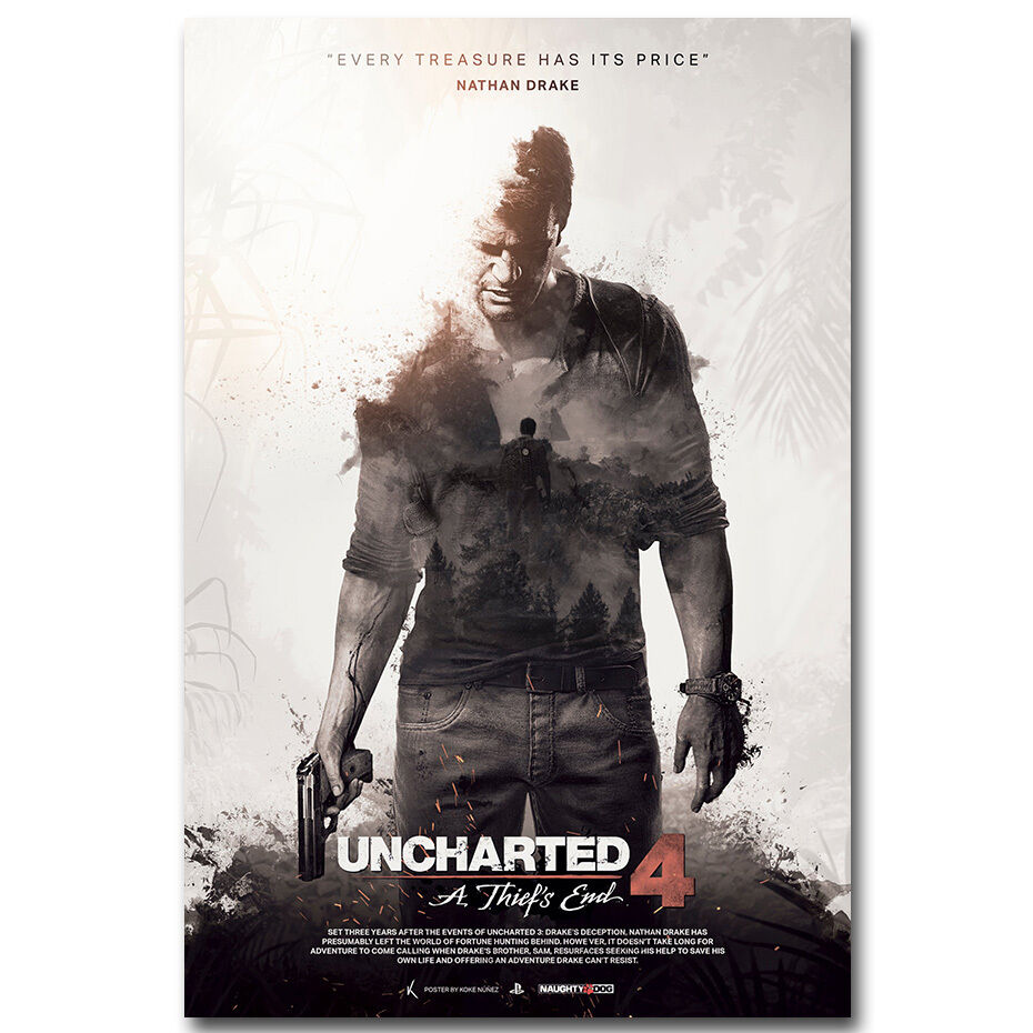 Uncharted 4 A Thiefs End New Game Silk Poster Art Fabric