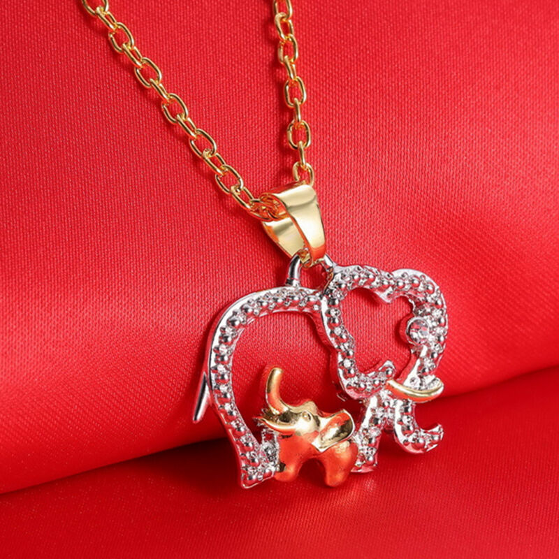 Creative Mothers Day Gift Crystal Elephant Charm Pendant ...