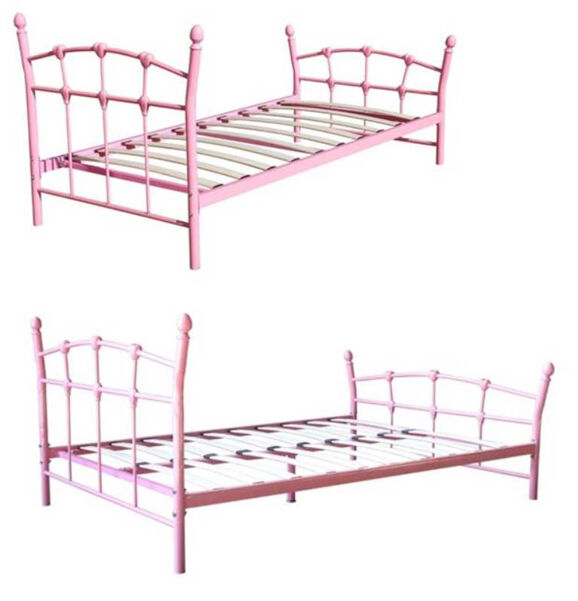 metallbett inkl lattenrost metall bett jugendbett m dchenbett prinzessinbett neu ebay. Black Bedroom Furniture Sets. Home Design Ideas