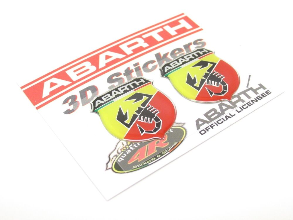 neu abarth gel 3d aufkleber sticker emblem lancia y fiat punto cinquecento 53 ebay. Black Bedroom Furniture Sets. Home Design Ideas