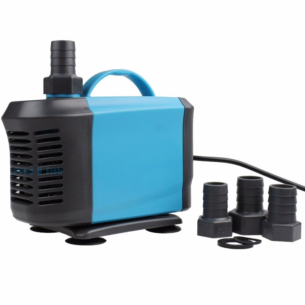 1190 gph aquarium submersible water pond pump inline for Hydroponic pump