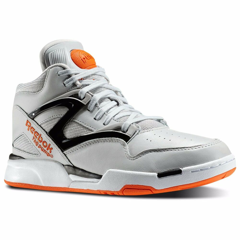 new men 39 s reebok pump omni lite m42973 grey orange retro. Black Bedroom Furniture Sets. Home Design Ideas