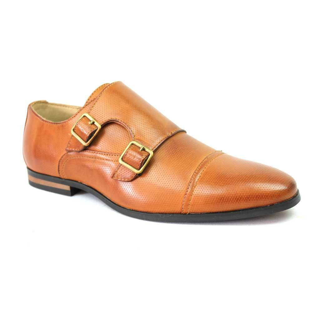 Mens Brown Modern Dress Shoes