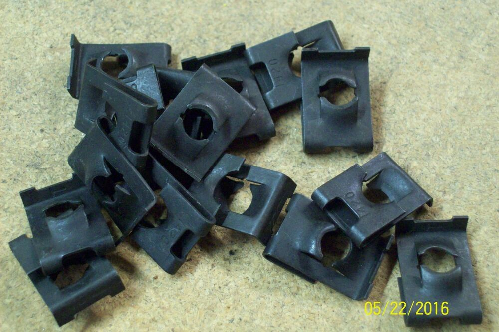 (25) 1/4-20 Fold over U J clip panel nut sheet metal ...