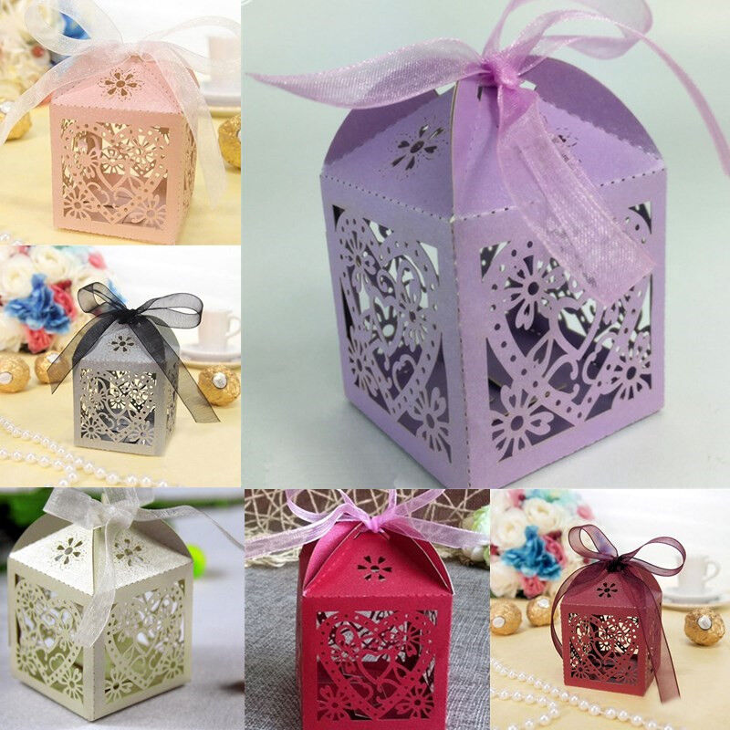 Gifts For Wedding Guests: 10Pcs/set Wedding Favors And Gifts For Guests Party Hollow