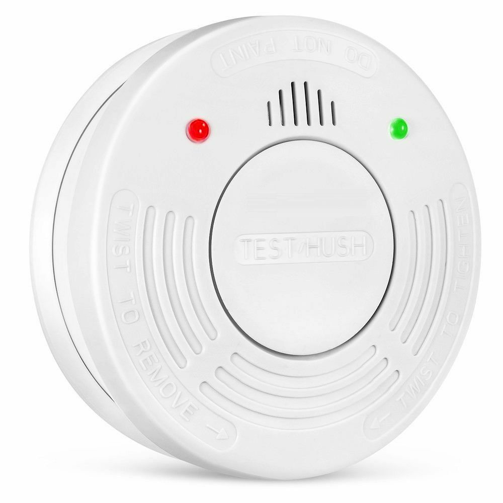 Fire Alarm 10 Year Extended Battery Life Smoke Detector Sensor By Crimson Guard