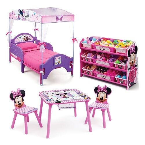 Minnie Mouse Toddler Bedroom Set: Delta Children Minnie Mouse 3-Piece Toddler Canopy Bedroom