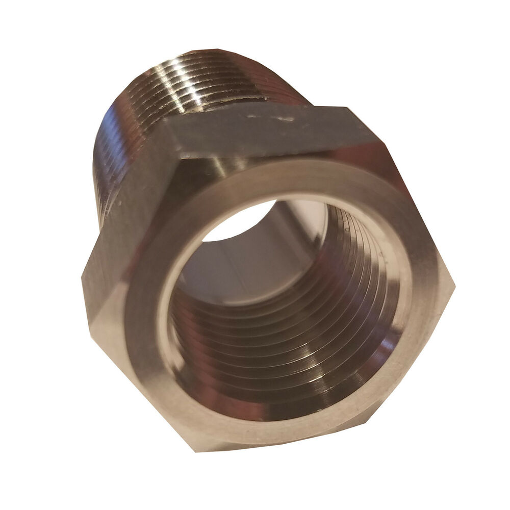 Hfs stainless steel reducer bushing quot npt male