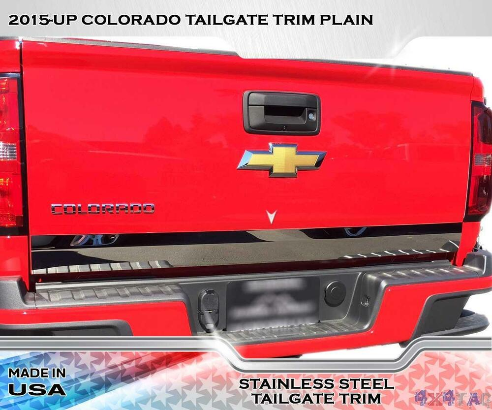 Stainless steel quot wide tailgate trim pc fits chevy