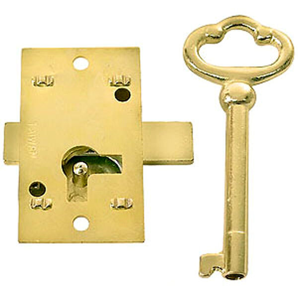 Small surface mounted replacement lock for antique for Surface lock