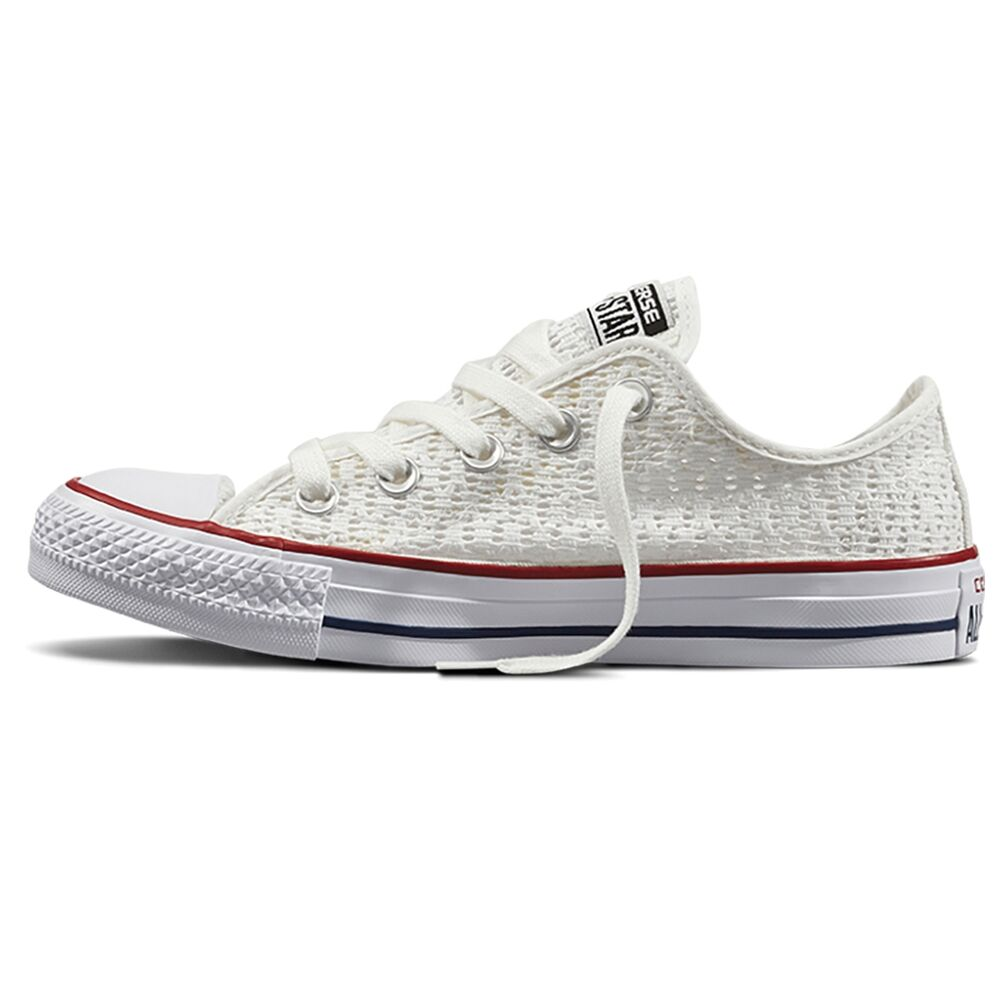 converse chuck taylor all star low crochet schuhe wei white chucks schuhe damen ebay. Black Bedroom Furniture Sets. Home Design Ideas