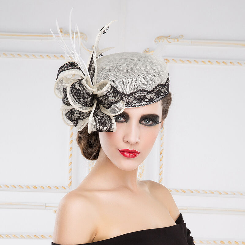 new ladies sinamay hat wedding races ascot occasion formal