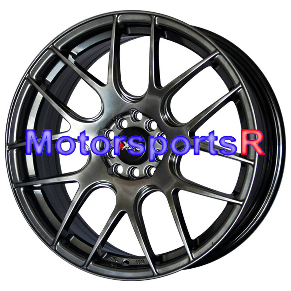 "18"" XXR 530 Chromium Black Wheels Rims 5x114.3 04 TL RSX"