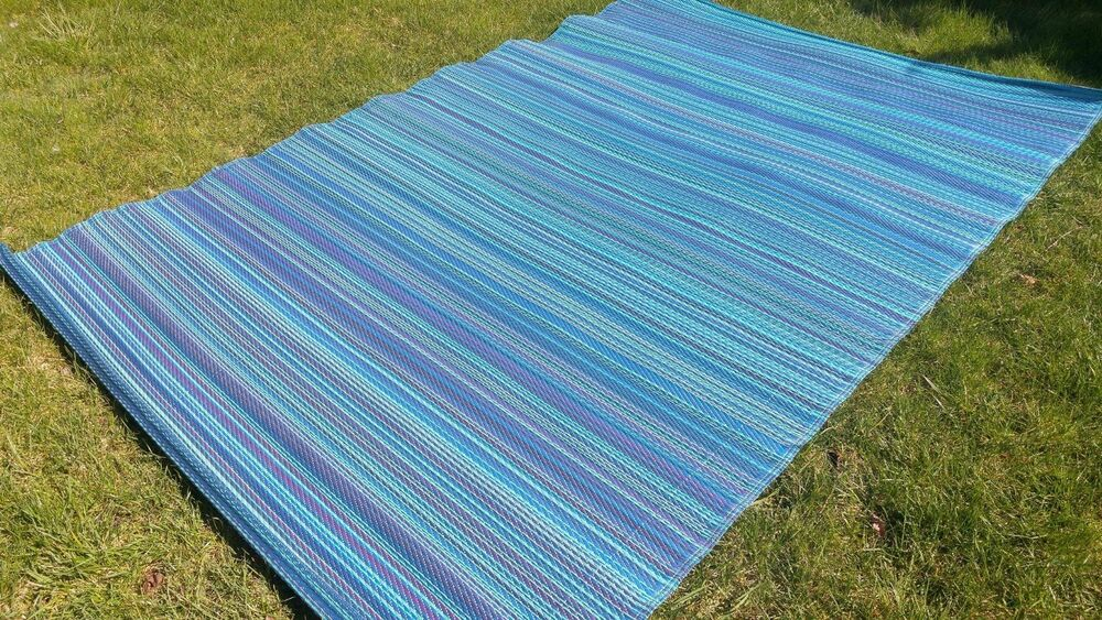 NEW OUTDOOR Stripe RECYCLED Geometric Modern BLUE NAVY
