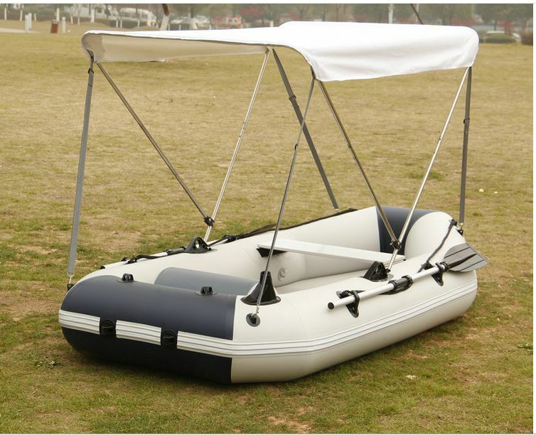 Portable Boat Covers : Portable bimini top cover canopy for inflatable kayak