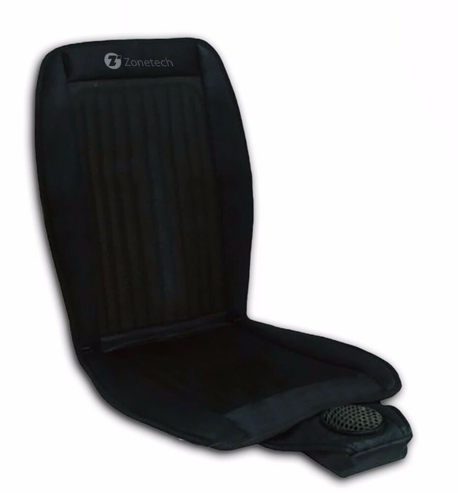 zone tech cooling car seat summer cushion cooler 12v adjustable temperature ebay. Black Bedroom Furniture Sets. Home Design Ideas
