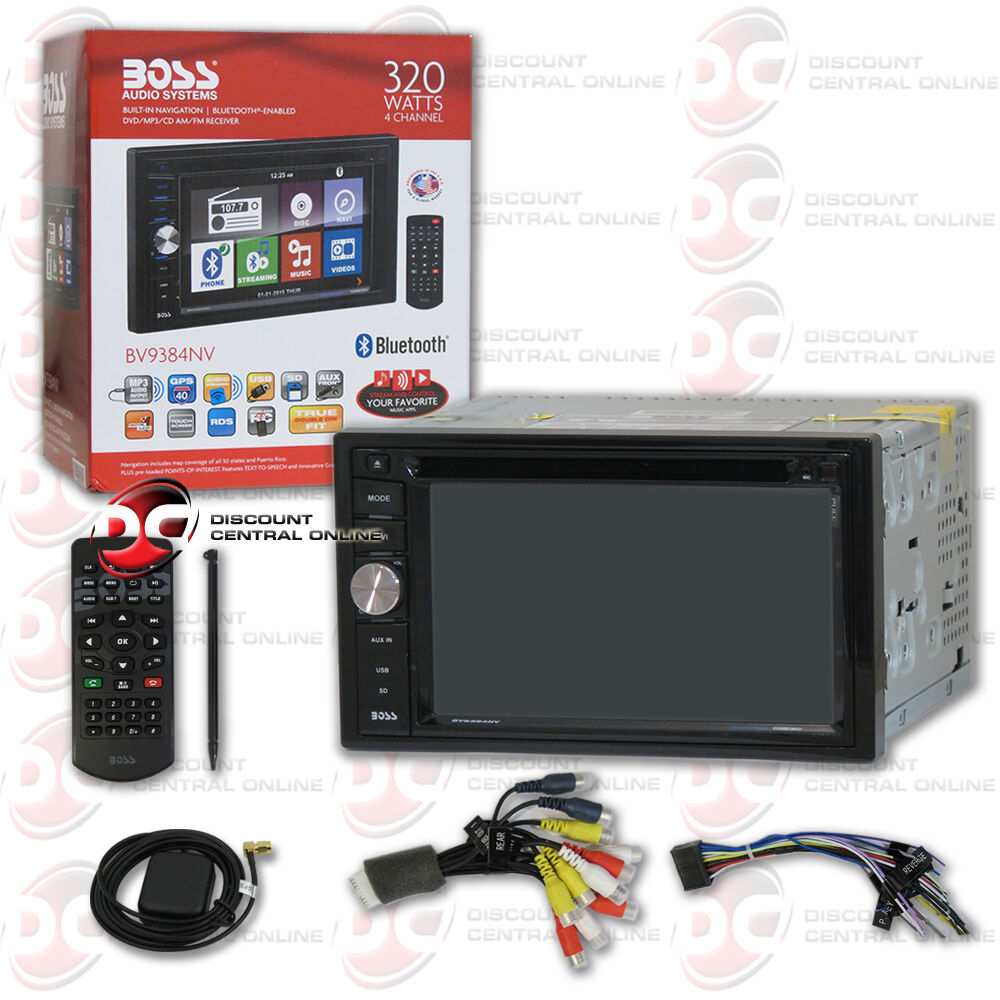 boss bv9384nv car 2 din 6 2 touchscreen dvd usb bluetooth. Black Bedroom Furniture Sets. Home Design Ideas