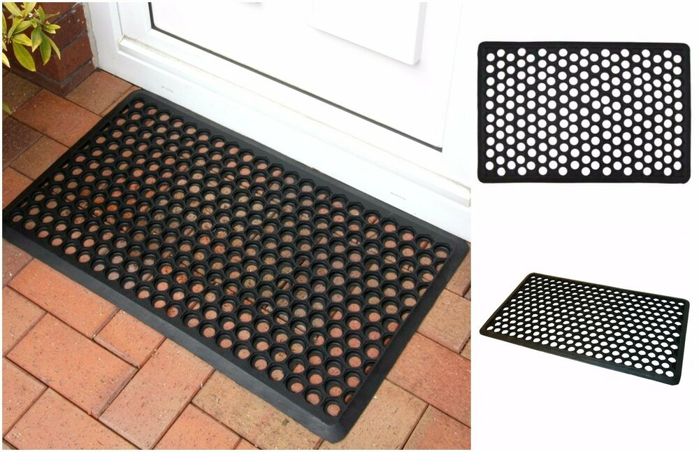 Non-Slip Honeycomb Rubber Door Mat Entrance Floor Heavy