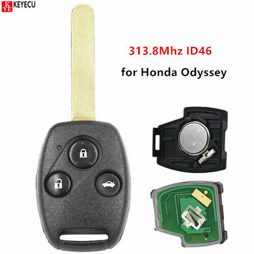 New Replacement Remote Car Key Fob 313.8Mhz ID46 for Honda ...