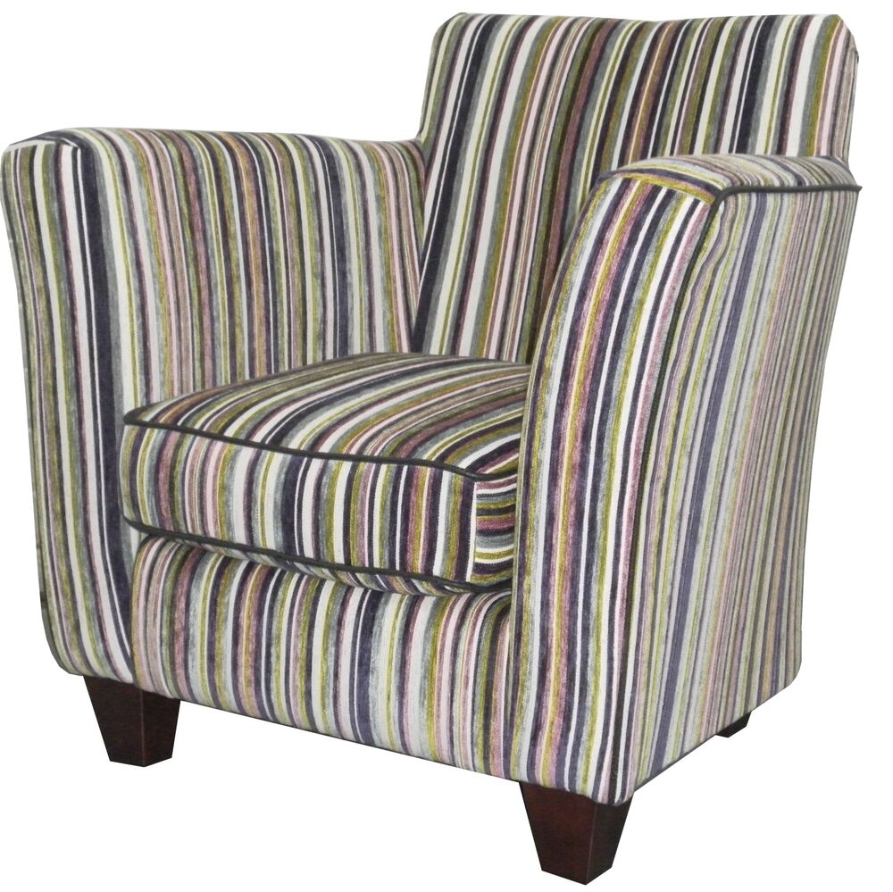 TUB CHAIR PURPLE STRIPE PATTERN LUXURY CHENILE FABRIC EBay