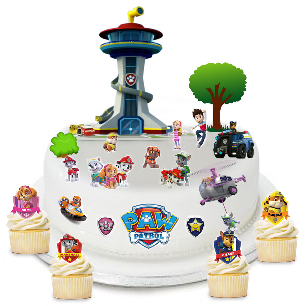 Stand Up Paw Patrol Scene Edible Premium Wafer Paper Cake ...