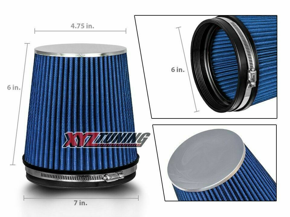 Truck Air Filter : Quot blue truck short performance high flow cold air intake