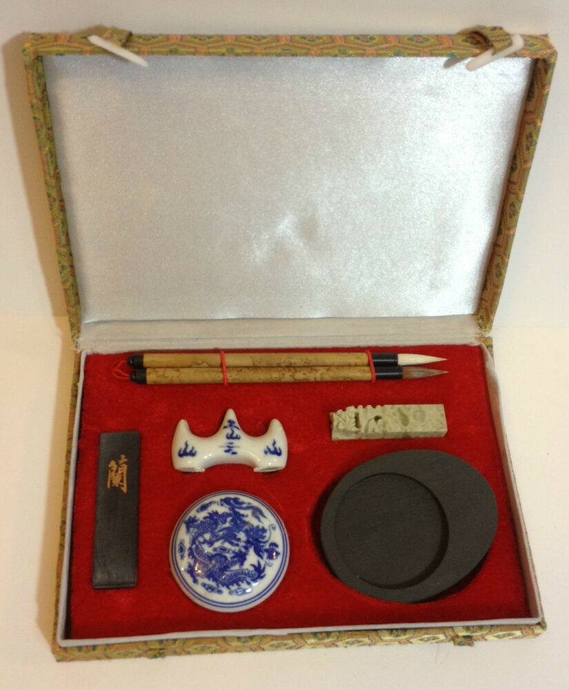 Calligraphy Writing Set Chinese Japanese Sumi Ink