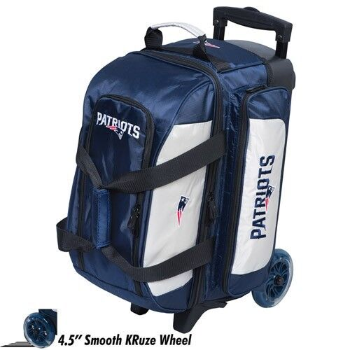 Nfl 2 Ball Double Roller Bowling Bag Patriots Ebay