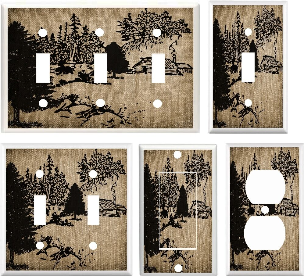 Light Switch Cover Plate Rustic Cabin Amp Forest Bear