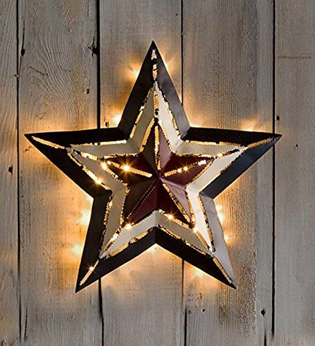 Americana Metal STAR LED Lighted Star Indoor Outdoor