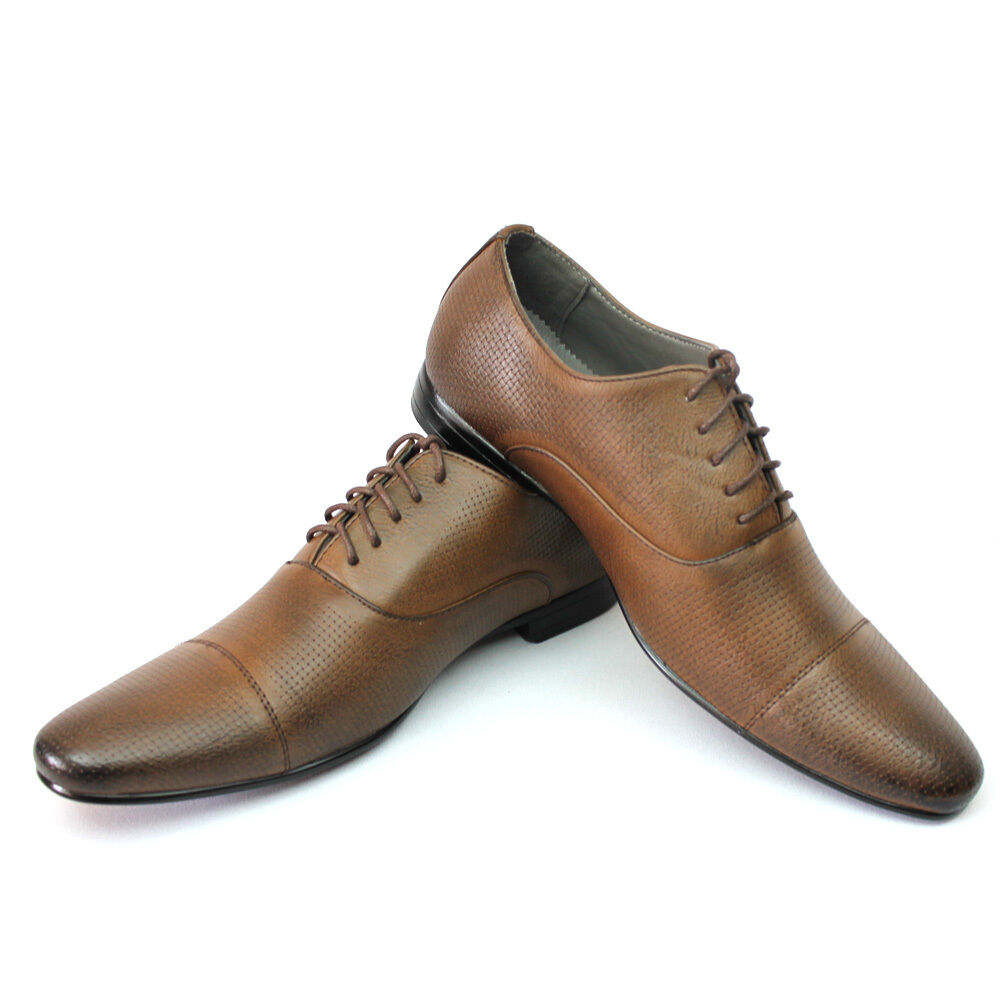 new mens dress shoes brown bravo klein cap toe leather