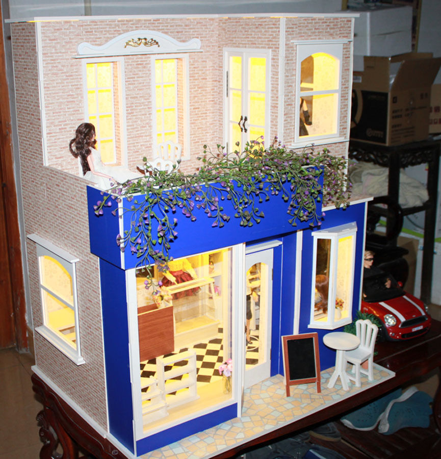 Barbie Bedroom In A Box: Doll House Room Box Coffe Shop~ 1:6 Pullip Blythe Momoko