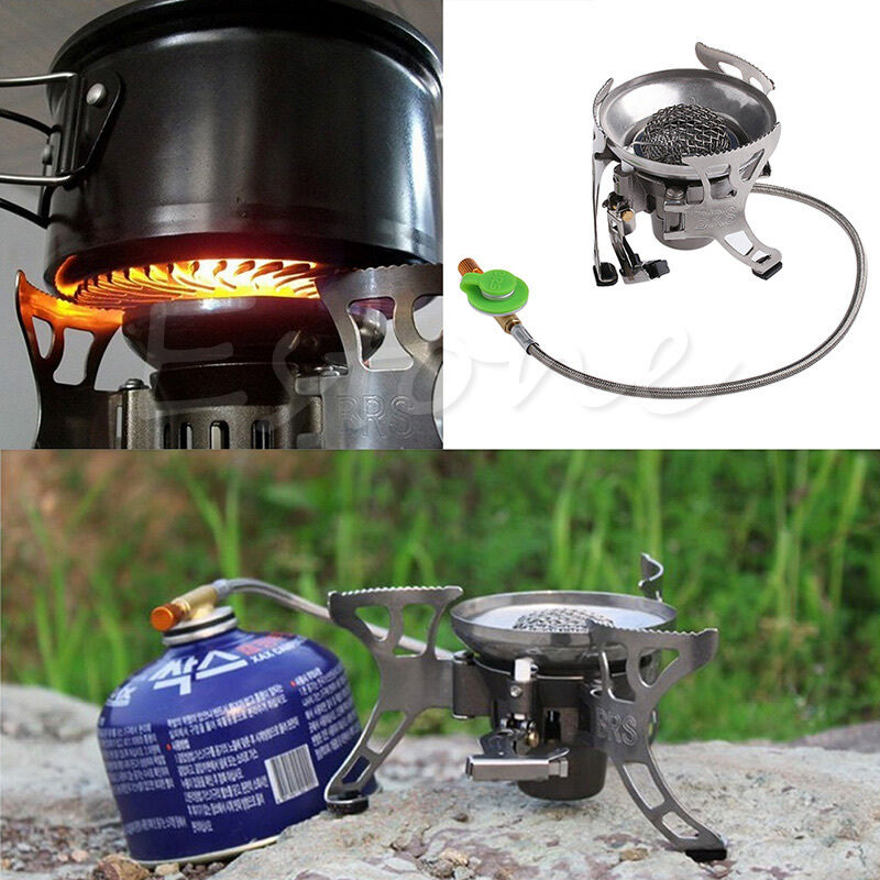 portable gas stove butane burner multi fuel stoves for outdoor camping hiking ebay