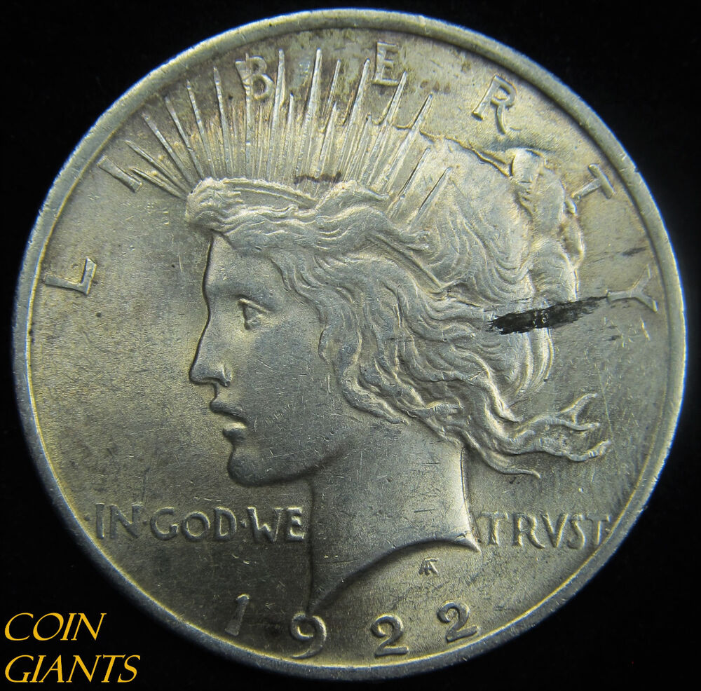 1922 1 Peace Silver Dollar Uncirculated Bu Unc Planchet